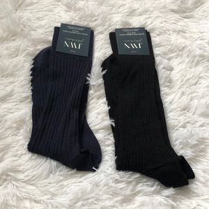 (2) NWT JWN Merino wool cable knit socks